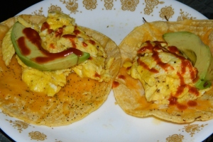 Egg and Avocado Tacos
